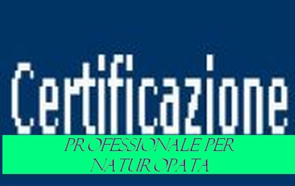 Certificazione professionale per Naturopata